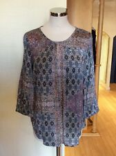 Betty Barclay Top Size 10 BNWT Blue Mauve Beige Patterned RRP £80 NOW £36