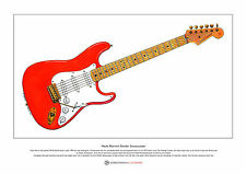 Hank Marvin's Fender Stratocaster Limited Edition Fine Art Print A3 size