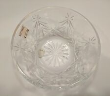 "Waterford Crystal HAPPY HOLIDAYS Christmas Tree Nut Dish /Bowl - 5"" - NEW"