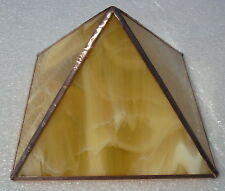 honey gold Stained Glass and Copper Metaphysical Chromotherapy Power Pyramid