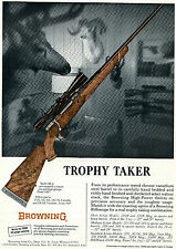 1965 Print Ad of Browning High-Power Rifle Trophy Taker