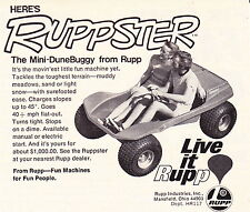 1970 RUPPSTER MINI-DUNE BUGGY FROM RUPP  ~  CLASSIC SMALLER ORIGINAL PRINT AD