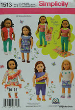 "**SALE** Simplicity 1513 Sewing PATTERN for 18"" American Girl DOLL CLOTHES"