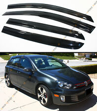 08-2013 MK6 MK VI VW GOLF R GTI HATCHBACK SMOKE TINTED WINDOW VISOR GUARD SHADE