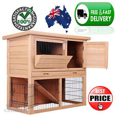 2 Story Pet Rabbit Chicken Guinea Pig Ferret Poultry Coop Cage House Pen Hutch