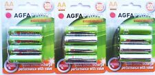 12 x AA SOLAR GARDEN LIGHT AGFA  RECHARGEABLE BATTERIES 1.2v 800mAh