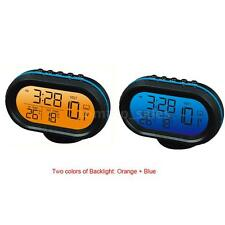 Auto Car Digital Thermometer Voltage Meter LCD Monitor Clock With Outside Senor