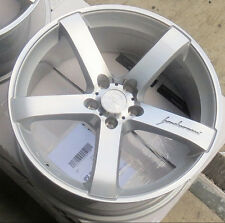 """18"""" MRR VP5 Wheels For Audi A4 A5 18x8.5 +35 5x112 Inch Silver Rims Set of 4"""