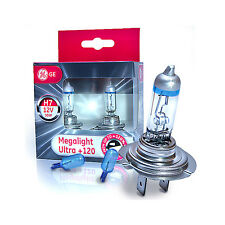 GE H7 MegaLight Ultra +120% lighting + 2x WhiteVision W5W Standlicht 58520SNU