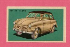 Lloyd Vintage 1950s Car Collector Card from Sweden