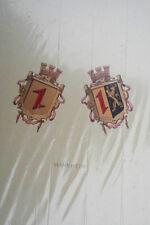 Wappen von Mannheim , um 1900  -  Original-Litho