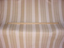 14+Y COWTAN TOUT HANDSOME BUCKLEY STRIPE STRAW LINEN DRAPERY UPHOLSTERY FABRIC