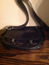 Francesco Biasia Genuine Leather Handbag/Purse Black Shoulder Bag