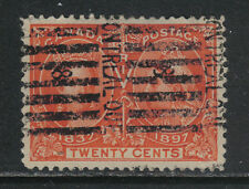 Canada 1897 Queen Victoria Jubilee 20c vermillion--Attractive Topical (59) used