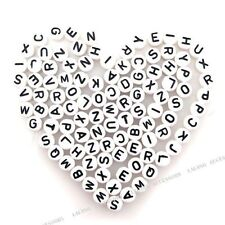 300Pcs Wholesale Black  Plastic Letters Jewelry Making Beads Elegant Gifts BS