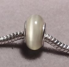 GREY Cat's Eye European Glass Bead      (151)