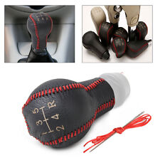 Genuine Leather 5-Speed Gear Shift Knob Cover for Peugeot 206 Citroen Saxo C