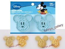 Japan Made Mickey Mouse & Minnie Mouse Cookie Cutter Mold + Stamp C2
