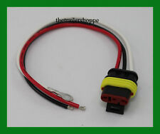 Replacement Plug 3 wire Waterproof Sealed 3 Pin Pigtail Connector for STT Lights