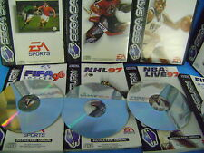 SEGA SATURN FIFA 96 /97+ NBA 97+ NHL 97 giochi