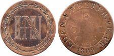 Allemagne, Westphalie, Jérôme Napoléon, 5 cent, 1809 - 48