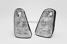 BMW Mini Cooper R50 R53 01-04 Clear Tail Lamps Rear Lights Pair Driver Passenger
