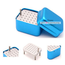 30 Holes Dental Burs Holder Stand Autoclave Disinfection Box for Endo files New