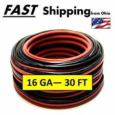 red & black wire 30 ft. - - - - 30 feet long wire - - - - thick 16 gauge