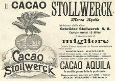 Y2167 Cacao Stollwerck marca Aquila - Pubblicità del 1903 - Old advertising