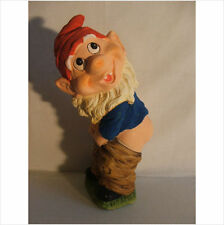 GNOME WITH PANTS DOWN GARDEN ORNAMENT.LATEX MOULD/MOULDS/MOLD