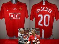 Manchester United Medium Solskjaer Testimonial Nike Shirt Jersey Football Soccer