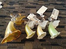 Lot of 4 Russ Glass Angle Ornaments