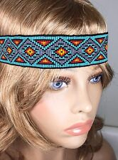 MULTICOLORED NATIVE AMERICAN STYLE INSPIRED STRETCHABLE HAIR BAND