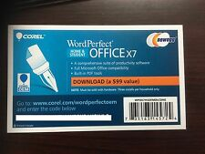 Corel WordPerfect Office X7 Home and Student - 3 PCs ( Product Key Card ) ✔NEW✔