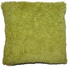 Shaggy Cushion Covers Chenille 18 x 18'' Luxury Black Red Cream Lime Chocolate
