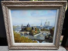 VTG ORIGINAL OIL ON CANVAS PAINTING BY MARCEL HARANG LISTED FRENCH ARTIST