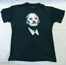 Mens The Chive Bill Murray 3 D Glasses Gray T-Shirt Hipster Summer Beach Surf L