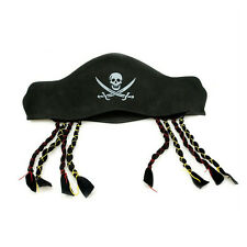 1Pc Lovely Pirate Captain Hat Cap With Braids  Halloween Costume Party Supplies