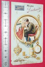 RARE CHROMO 1900-1910 CACAO SUCHARD  L'OR