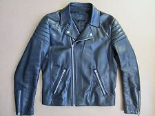 Prada Men's Black Leather Motorcycle Biker Jacket, Size IT 48 / UK M, Exc Cond