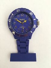 Neon T Unisex Nurses Fob Watch NE12/J with Dark Blue  Dial and Plastic Strap