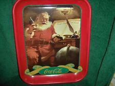 COCA-COLA SANTA TRAY GOOD BOYS AND GIRLS DATED 1996, MINT CONDITION STORED STOCK
