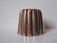 ANTIQUE VICTORIAN SMALL COPPER DARIOL MOULD WITH FLUTED SIDES