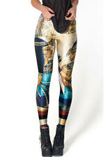 Exotic Egyptian Cleopatra Hieroglypic Slim Stretchy Spandex Cool Dance Leggings