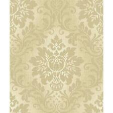 GRANDECO FABRIC ROYAL DAMASK PATTERN GLITTER MOTIF TEXTURED WALLPAPER GOLD