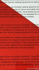 A4 019 RED Coloured Sheet Overlay Dyslexia Visual Transparent Stress reading