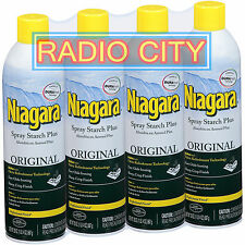 Niagara Spray Starch Plus Aerosol Original Durafresh 20oz Can 4-Pack