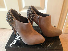 *BNIB* SAM EDELMAN RENZO PUTTY BEIGE SUEDE STUD SPIKE SHOE BOOTS UK 36 US 6 £225