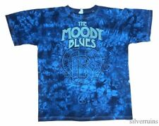 MOODY BLUES Vintage T Shirt TOUR Concert 2011 Tie Dye Cities M Rock Band
