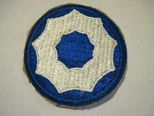 ww2 unit Army 9th SERVICE COMMAND Patch color SSI Shoulder insignia cut edge